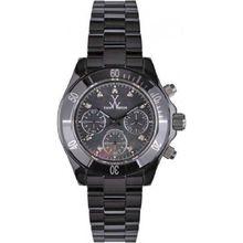Toy Watch CCS04BK Womens Black Dial Quartz Watch with Ceramic Strap