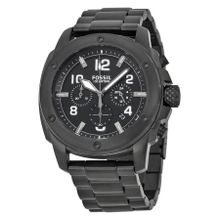 Fossil FS4927 Mens Black Dial Analog Quartz Watch with Stainless Steel Strap