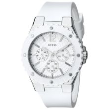 Guess U10657L1 Womens Sport Ladies  White Dial Stainless Steel Case Quartz Movement Watch