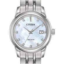 Citizen EW2390-50D Womens Mother-Of-Pearl Dial Stainless Steel Bracelet Analog Watch