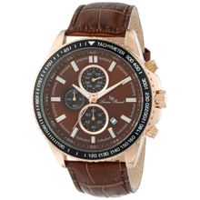 Lucien Piccard LP-12552-RG-04-BR Mens Brown Dial Analog Quartz Watch