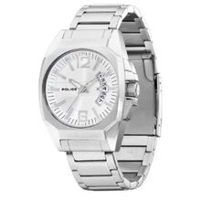 Police Men's PL-12897JS/04M Interstate Silver Dial Stainless-Steel Watch