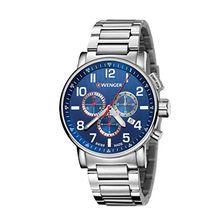 Wenger 01.0343.106 Mens Blue Dial Analog Quartz Watch