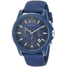 Armani Exchange AX1327 Active Mens Blue Dial Analog Quartz Silicone Strap Watch
