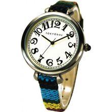 Tokyobay T016-BK Womens White Dial Analog Quartz Watch