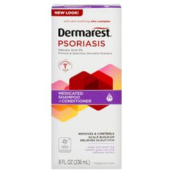 Dermarest Shampoo Plus Conditioner, Medicated, Psoriasis, 8 fl oz (236 ml)