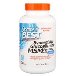 Doctor's Best, Synergistic Glucosamine MSM Formula, with OptiMSM, 180 Capsules