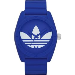 Adidas ADH6169 Mens Blue Dial Analog Quartz with Rubber Strap Watch