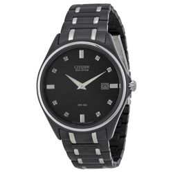 Citizen AU1054-54G Mens Black Dial Analog Quartz Watch
