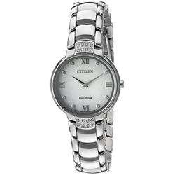 Citizen EX1460-55A Womens Silver Case Silver Dial Silver Bracelet Round Analog Watch
