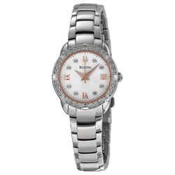 Maribor White Dial Stainless Steel Ladies Watch