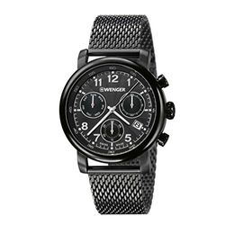 Wenger 01.1043.108 Mens Black Dial Analog Quartz Watch