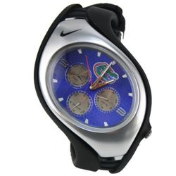 Nike NKGTFLN254 Mens Blue Dial Quartz Watch with Rubber Strap
