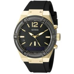 GUESS C0002M3 Womens GUESS CONNECT Chic Fashionable Black Analog And Digital Watch