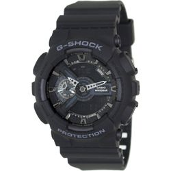 Casio GA110-1B Mens G-Shock Digital Dial Dual Quartz Resin Strap Watch