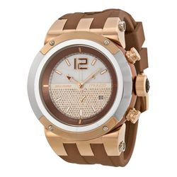 Mulco MW5-1621-033 Unisex Brown Dial Analog Quartz Watch with Silicone Strap