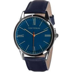 TOKYObay Brindisi Womens Stainless Steel Case Blue Leather Blue Dial Silver  Watch